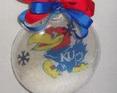 Christmas, ornament, KU ,Floating insert, glass, sports, christmas tree, gift