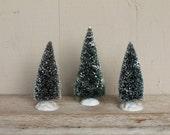 Vintage Bottlebrush Christmas Trees, Set of 3