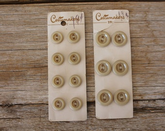 Vintage Costumakers Button Cards, Champagne Color