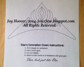 Queen Elsa Crown PDF File Download - Create Your Own Elsa Crown
