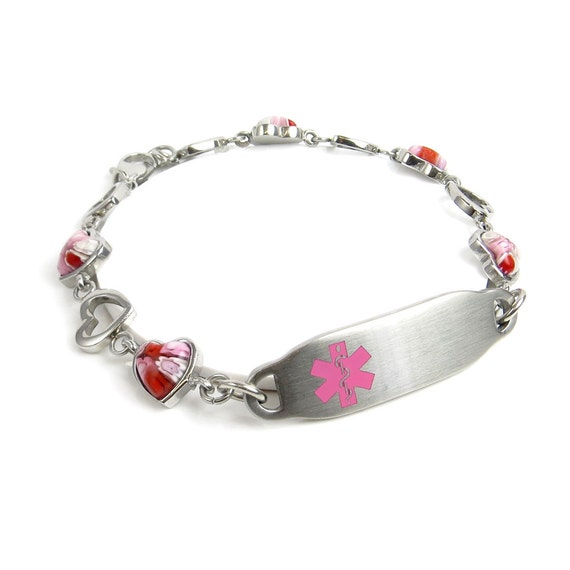 womens alert bracelet womens alert bracelet engraved glass by 6665