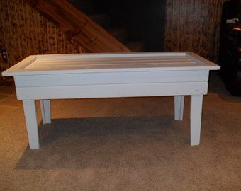 White Primitive Coffee Table