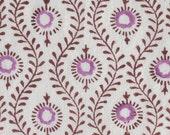 Mayura in Orchid: Indian Cotton Block Print Fabric - half metre