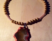 Pink and Gold Necklace sale