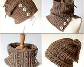 CROCHET PATTERN  Hat /Cowl 2 in 1   (pdf file) -sizes Toddler/ Child/Teen/ Adult
