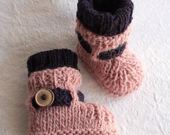 Knitting Pattern (PDF file)  Alpaca Baby Boots (sizes 0-6/6-9/9-12 months)