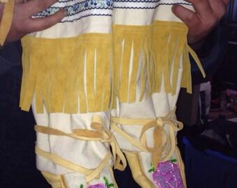 beaded womens' mukluks