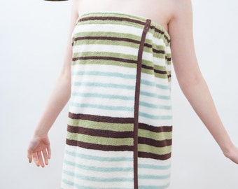 Spa Towel Wrap PDF SEWING PATTERN - Great Bath and Beach Cover up - Instant Download - Blissfulpatterns