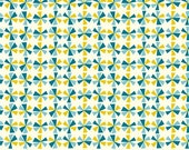 SALE 1/2 Yard Organic Cotton Fabric - Birch Frolic - Pinwheels