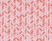 3 Yards Organic Cotton Fabric - Cloud9 Fabrics House & Garden 2014 - Straw Hat Pink