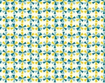 Organic Cotton Fabric - Birch Frolic - Pinwheels