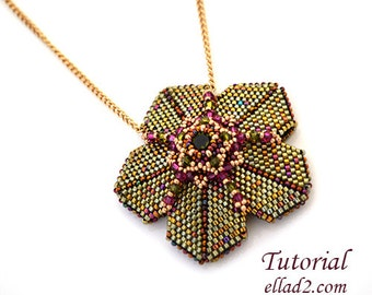 Tutorial Whimsical Pendant - Beading tutorial, Instant download,Beading Tutorial, Jewelry Tutorial
