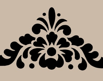 STENCIL Floral Motif Corner 10x9.7