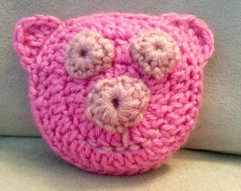 Boo Boo Buddy Pig Crochet Ice Pack