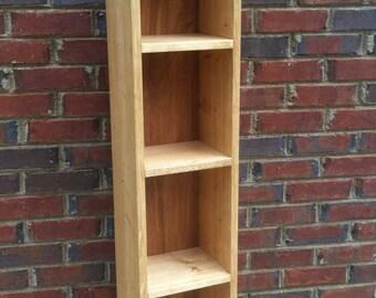 """Bookcase  Storage Shelf  Tower 47"""" H x 10"""" W x 7 1/2 """" D"""