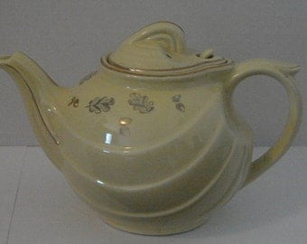 Hall Teapot with gold leafing