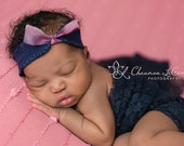 Navy Blue Stretch Lace Wrap Newborn Photography Prop Baby Swaddle