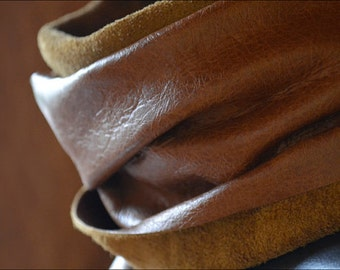 Handcrafted Leather Scarf // Leather scarf for Men and Women // Formal or Casual wear // DE BRUIR