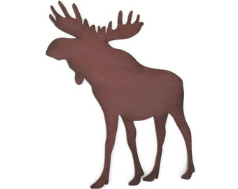 Brown Moose Logo Moose wall decor rustic cabin