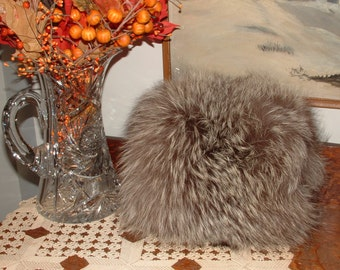 Large Vintage 1960's Raccoon Fur Muff - Unused