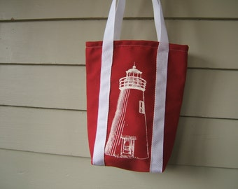 Concord Point Lighthouse (Maryland) Mini Tote Bag- One of a Kind!