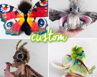 CUSTOM - Moth Art Doll