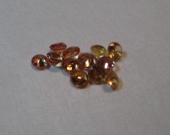 Yellowish  Yellowish Orange Songea Sapphires .......     2.2 -2.4 mm   ......      12 pieces   ...    a3256