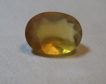 Mexican Opal faceted gemstone ...... BEAUTIFUL ......   9 x 7 x 4 mm   ........                  a3614