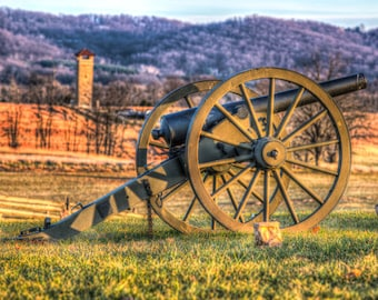 Maryland Art, Cannon Over Looking Bloody Lane, Fine Art Photography, Maryland Photography, Civil War