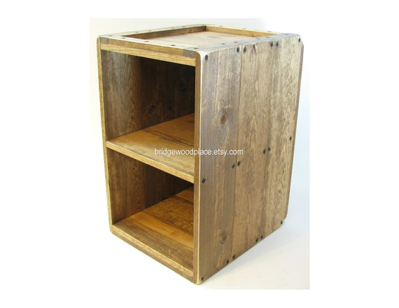 Wood Crate Furniture Side Table Rustic Wooden By Bridgewoodplace