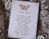 A Nurses Prayer Plaque, distressed white, nurse gift, butterfly