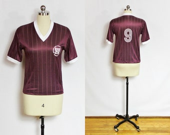 Vintage Maroon soccer jersey shirt