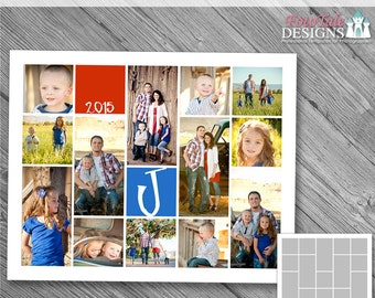 INSTANT DOWNLOAD - 16x20 Storyboard Collection 1, Collage 5 - custom 16x20 and 8x10 photo collage/storyboard template for photographers