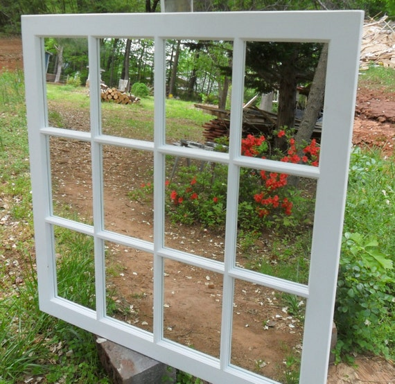 Items similar to sale 10 white mirror large square for Window mirrors for sale