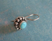 Single Sterling Turquoise Earring
