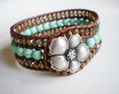 Turquoise Jewelry Turquoise and Copper Sparkly Jewelry Flower Jewelry