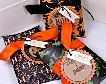 Halloween Candy Pillow Boxes, set of 3