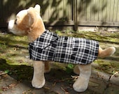 Custom Listing for Destiny-Black and White Corduroy Plaid Coat -Size X Small-  10 to 12 Inch Back Length - Or Custom Size