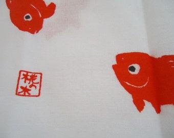 The Classic Japanese Fukin, or dish towel.70s.Kingyo