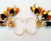 Monarch Steam Drake Clockwork Wings- Over The Ear Cuff Set Steampunk Accessory
