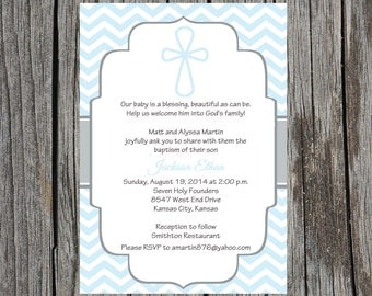 Printed Baptism Invitations - Baptism Christening Invitation Announcement , boy baptism invitation