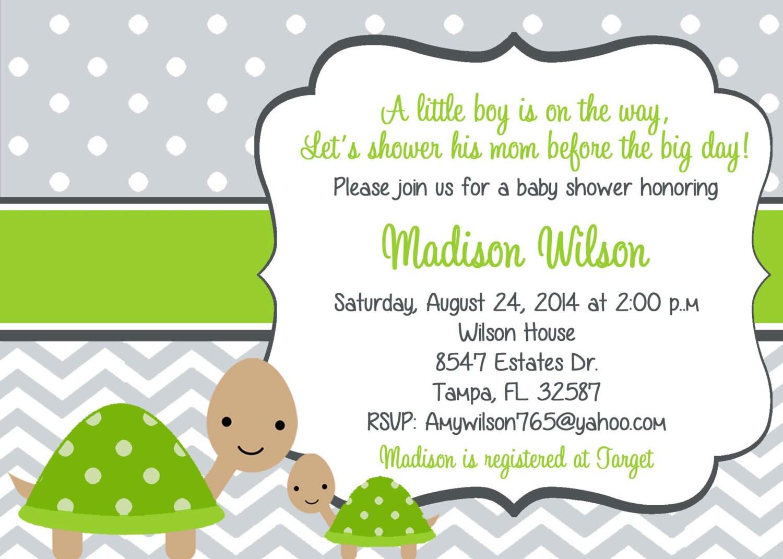 turtle baby shower invitationturtles baby boy shower baby