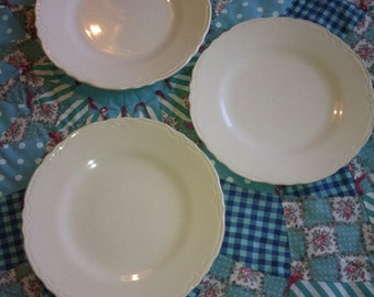 Vintage 3 Piece Luncheon Plate Set Made in the USA