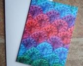 Crocodile Stitch Card Crochet Blank Card Irish Photography Greetings Card Irish Blank Card