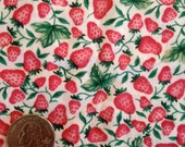 Fabric Destash - Strawberries - 1 yard