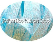 5 yards Blue Flakes ribbon 3/8 inch ribbon from our Holiday Collection US designer ribbon