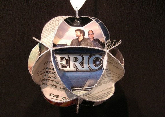 Eric Clapton Album Cover Ornament Made From Record Jackets