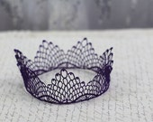 Fancy Purple Fairy Tale Lace Princess Girls Crown -  queen, halloween costume, birthday crown