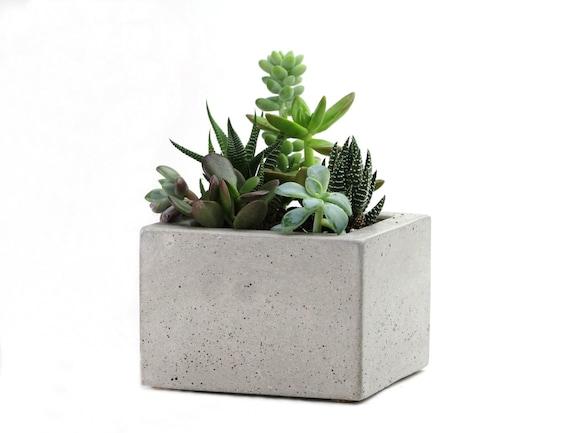 SALE: Square Concrete Mini Planter