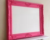 Berry Pink Dry Erase Board Magnetic Girls Room Wall Decor Bulletin Board White Board Ornate Fuschia Hot Pink Framed Memo Board - MORE COLORS